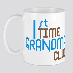 1st Time Grandmas Club (Blue) Mug