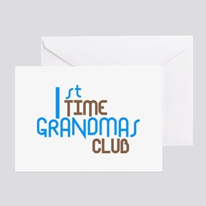 1st Time Grandmas Club (Blue) Greeting Card