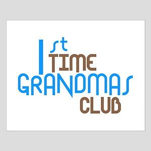 1st Time Grandmas Club (Blue) Small Poster