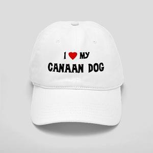 I Love My Canaan Dog Cap