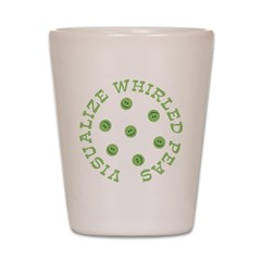 Visualize Whirled Peas Shot Glass