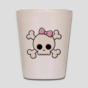 Cute Skull Girl Shot Glass
