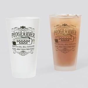 Vintage Programmer Pint Glass