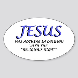 Religious Right are Wrong Oval Sticker