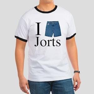 I Heart Jorts Ringer T
