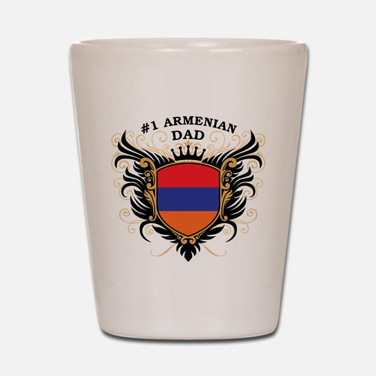 Number One Armenian Dad Shot Glass
