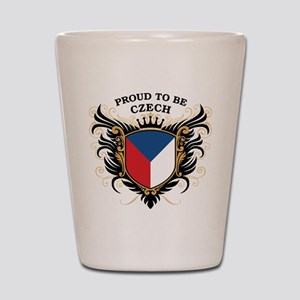 Proud to be Czech Shot Glass