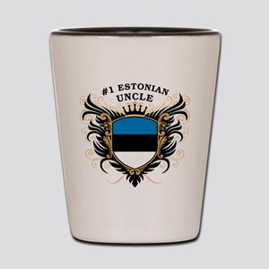 Number One Estonian Uncle Shot Glass