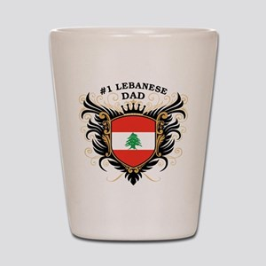 Number One Lebanese Dad Shot Glass