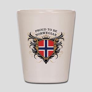 Proud to be Norwegian Shot Glass