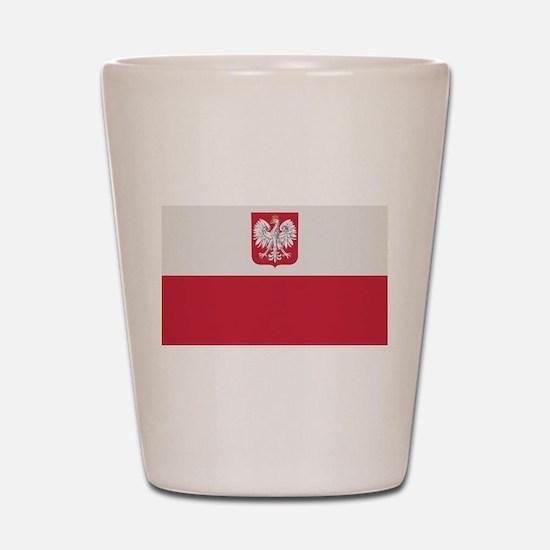 Flag of Poland Shot Glass