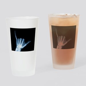 Shaka Sign X-Ray (Hang Loose) Pint Glass