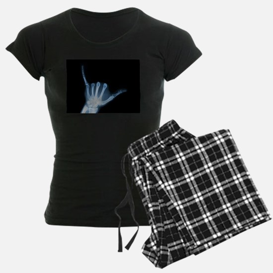 Shaka Sign X-Ray (Hang Loose) Pajamas