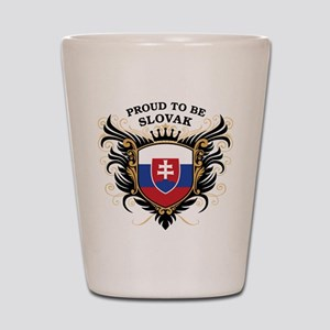 Proud to be Slovak Shot Glass