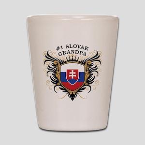 Number One Slovak Grandpa Shot Glass