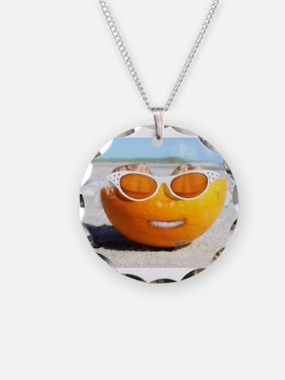 Beached Orange fun in the sun Necklace