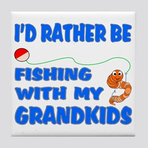 Rather Be Fishing With Grandk Tile Coaster
