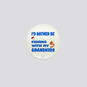 Rather Be Fishing With Grandk Mini Button