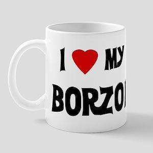 I Love My Borzoi Mug