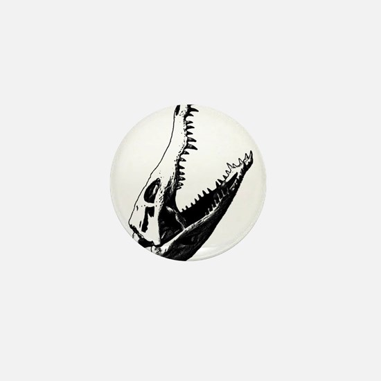 Crocodile Skull Mini Button
