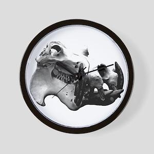 Hippopotamus Skull Wall Clock
