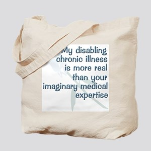 Blue Rose Chronic Illness Quote Tote Bag