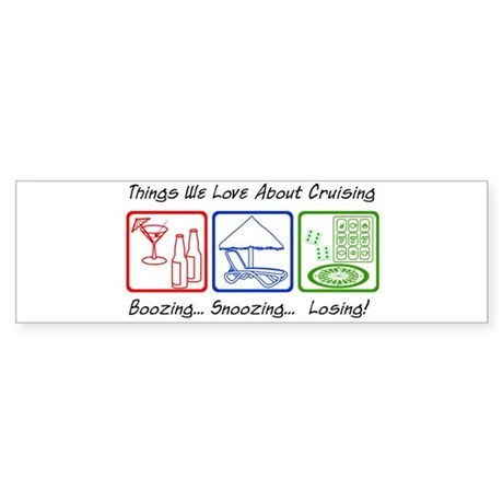 Boozing, Snoozing... Sticker (Bumper 50 pk)