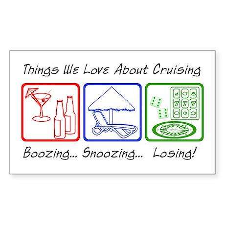 Boozing, Snoozing... Sticker (Rectangle)