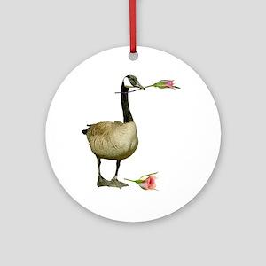 Canada Goose Rose Ornament (Round)