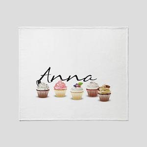 Cupcake Anna Throw Blanket