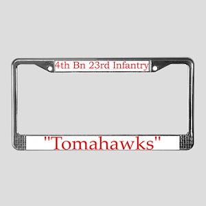 4th Bn 23rd Infantry License Plate Frame