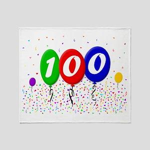 100th Birthday Throw Blanket