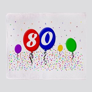 80th Birthday Throw Blanket