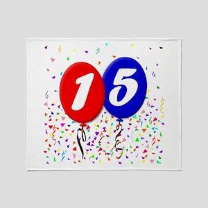 15th Birthday Throw Blanket