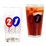 21st Birthday Pint Glass