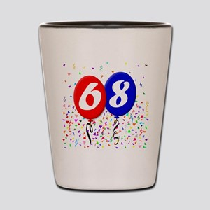 68th Birthday Shot Glass