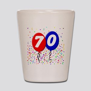 70th Birthday Shot Glass