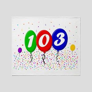 103rd Birthday Throw Blanket