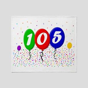 105th Birthday Throw Blanket