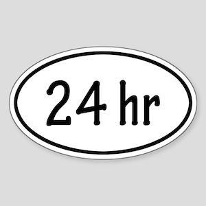 24 hr Oval Sticker