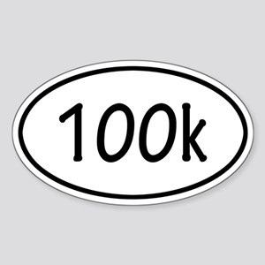 100k Oval Sticker