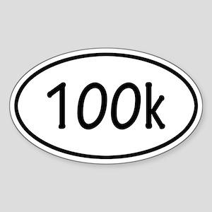 100k Oval Sticker