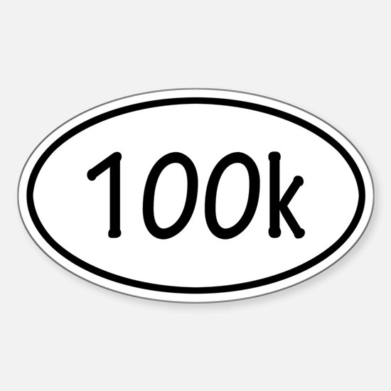 100k Oval Decal
