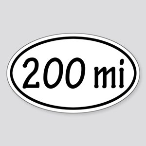 200 mi Oval Sticker