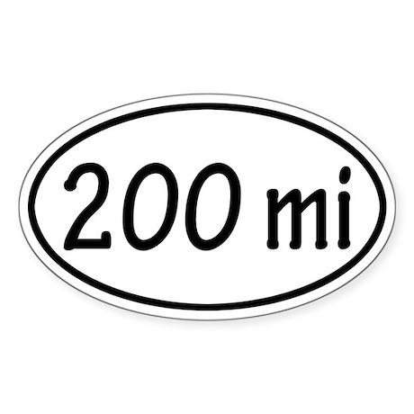 200 mi Oval Sticker