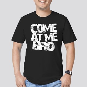 COME AT ME BRO Men's Fitted T-Shirt (dark)