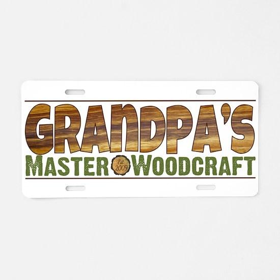 Grandpa's Master Woodcraft Aluminum License Plate