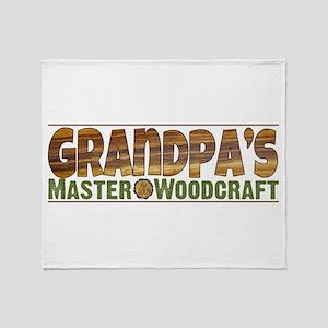Grandpa's Master Woodcraft Throw Blanket