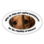 Capital Punishment Sticker (Oval 50 pk)