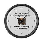 Capital Punishment Large Wall Clock